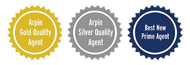 3 Arpin award badges