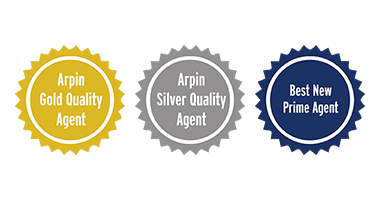 3 Arpin award badges