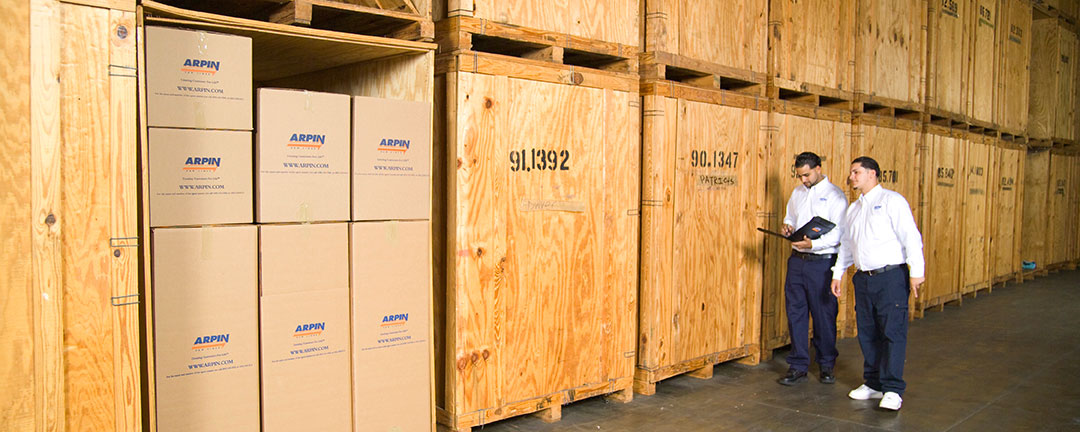 2 crew men in storage wareshouse