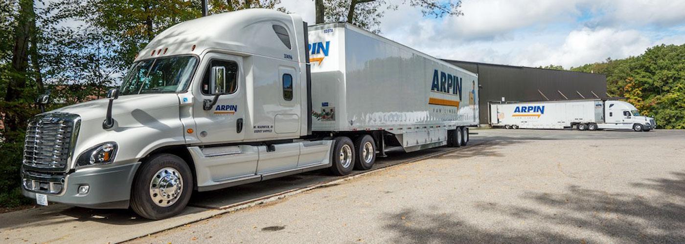 2 Arpin Trucks parked